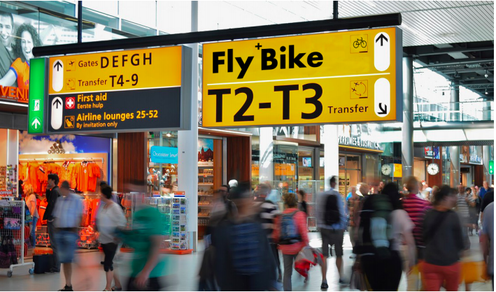 Fly+Bike Concept - booking a bicycle with your flight