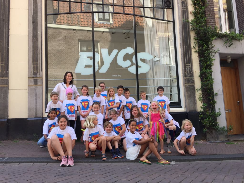 'Bicycle Heroes' together with Katelijne Boerma in front of BYCS HQ