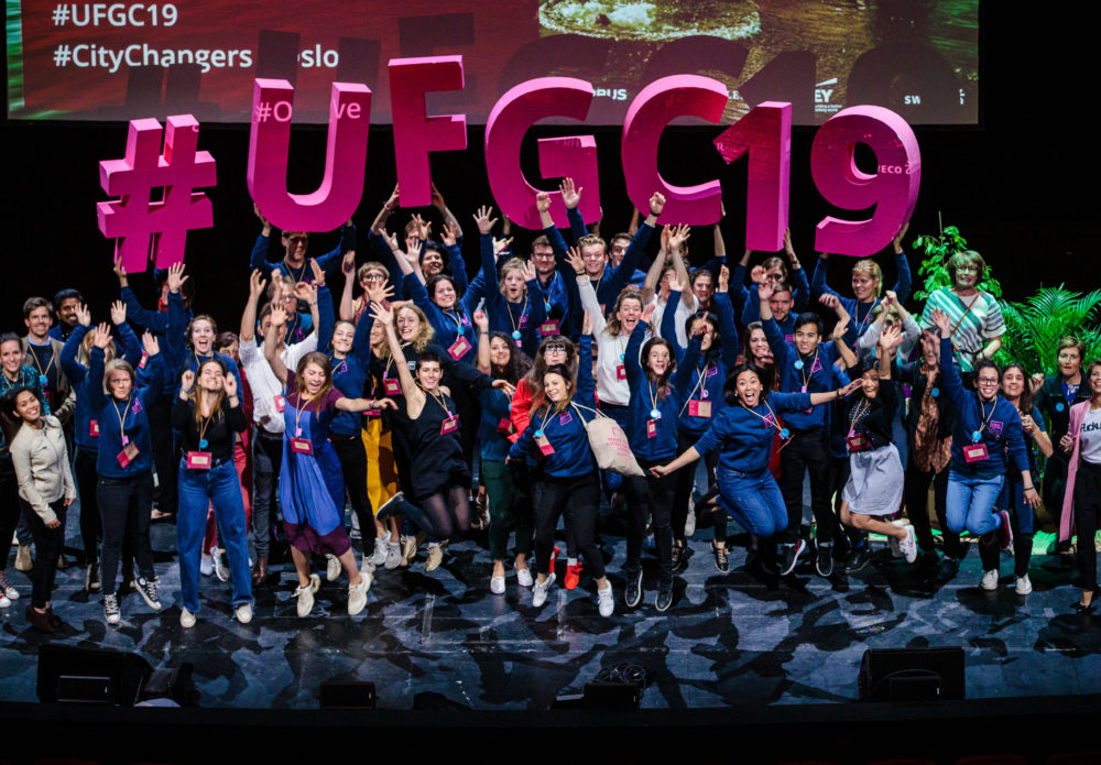 The team behind UFGC19 celebrate an inspiring few days in Oslo. Photo: Geir Anders Rybakken Ørslien'.