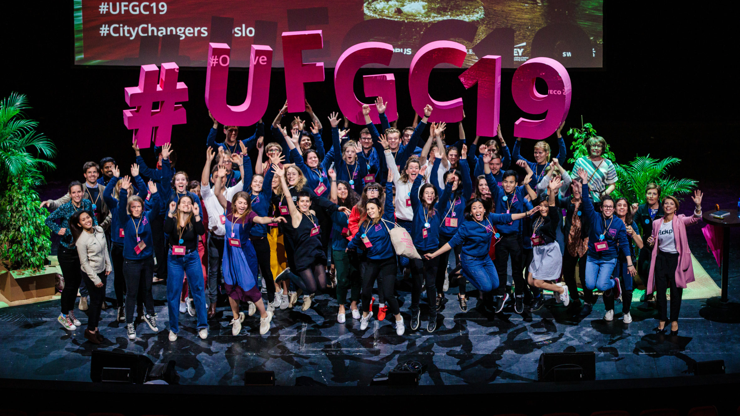 The team behind UFGC19 celebrate an inspiring few days in Oslo. Photo: Geir Anders Rybakken Ørslien'.