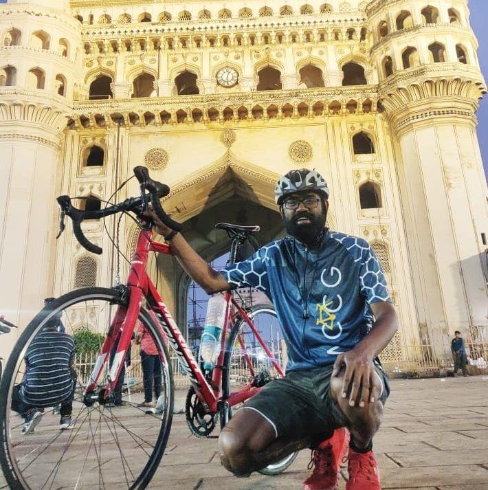 Bicycle Mayor Santhana Selvan