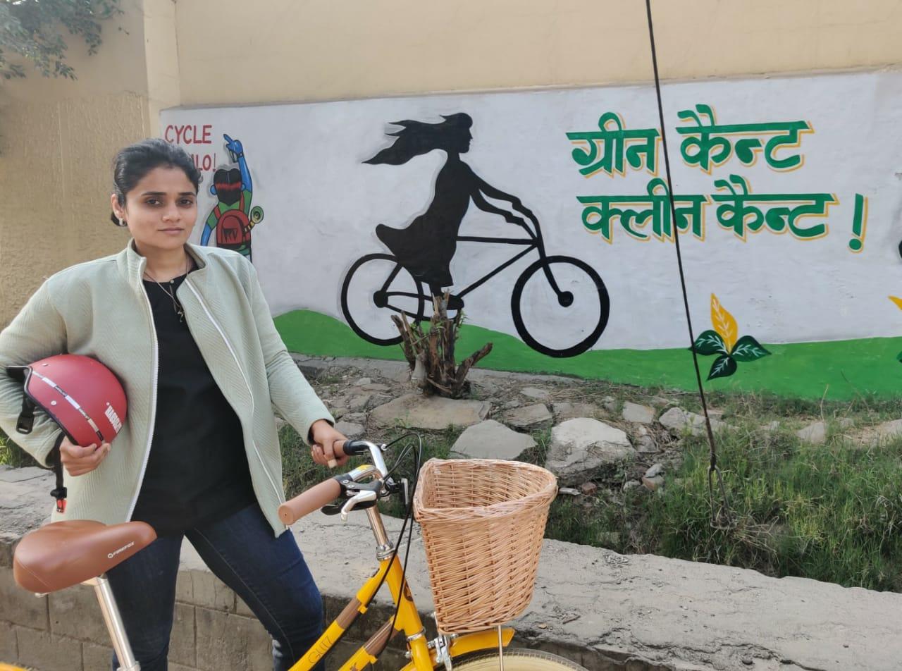 Bicycle Mayor Priya Bhattacharji