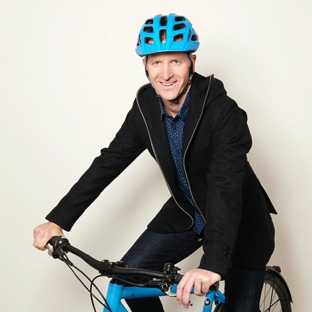 Bicycle Mayor Stephane Bubel